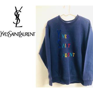 サンローラン(Saint Laurent)の【71さん限定】【YVES SAINT LAURENT】刺繍入りスウェット(スウェット)