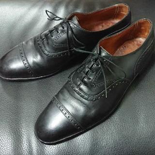 エドワードグリーン(EDWARD GREEN)のポールセンスコーン エドワードグリーン製 クォーターブローグ 黒 8.5 E(ドレス/ビジネス)