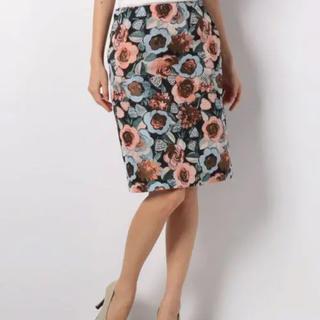 ルーニィ(LOUNIE)のLOUNIE 花柄ジャガードスカート (ひざ丈スカート)