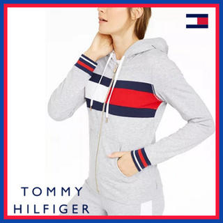 TOMMY HILFIGER - 日本未入荷★トミーヒルフィガー フード ジップ パーカー グレー US/Mサイズ