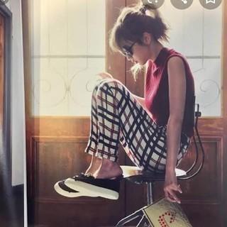 リランドチュール(Rirandture)の 紗栄子着用 リランドチュール チェック柄 パンツ (カジュアルパンツ)