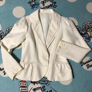 値下げ ホワイトジョーラ フォーマルスーツジャケット 11号 オフホワイト(スーツ)