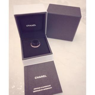 シャネル(CHANEL)のCHANEL ココクラッシュリング ベージュゴールド(リング(指輪))