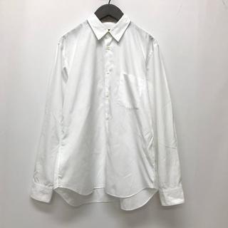 コムデギャルソンオムプリュス(COMME des GARCONS HOMME PLUS)のコムデギャルソン オム プリュス ブロード 長袖シャツ ホワイト S(シャツ)