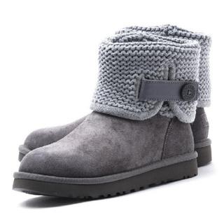 アグ(UGG)の【UGG美品】牛革ブーツ SHINA 1012534 (レディース/8/グレー)(ブーツ)