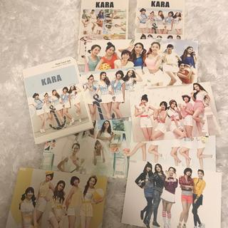 大人気アイドル kara シール付きポストカード(アイドルグッズ)