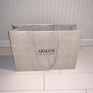 アルマーニ コレツィオーニ(ARMANI COLLEZIONI)のARMANI collezioni  ショッパー 紙袋 ベージュゴールド(ショップ袋)