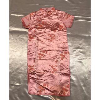 ◆発表会/イベント/パーティー◆美品◆刺繍ピンクロングチャイナドレス◆(ドレス/フォーマル)