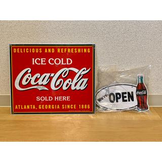 コカコーラ(コカ・コーラ)の最終大幅値下げ‼︎激レア‼︎コカ・コーラ⭐︎鉄のプレート&オープンクローズ(その他)