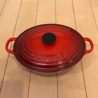 ルクルーゼ(LE CREUSET)のLE CREUSET ホーロー鍋 23cm レッド(鍋/フライパン)