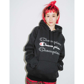 エックスガール(X-girl)のX-girl x CHAMPION SWEAT HOODIE(パーカー)