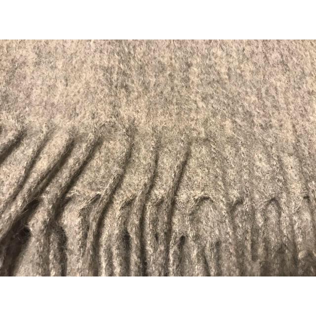 ACNE(アクネ)の2019AW 新作  オーバーサイズのフリンジ付きスカーフ ライトグレーメランジ メンズのファッション小物(ストール)の商品写真