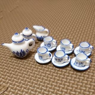 陶器 ミニチュア ティーセット①(ミニチュア)