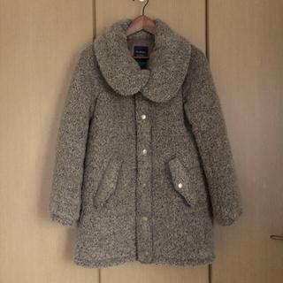 ダブルクローゼット(w closet)の中綿コート ボリューム襟 ブラウン もこもこ ダブルクローゼット レディース(その他)