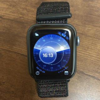 アップルウォッチ(Apple Watch)のApple Watch Series4 44mm GPS ブラックスポーツループ(腕時計(デジタル))