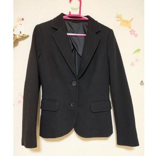 UNIQLO - 未使用に近い ユニクロ スーツ ジャケット 黒 テーラード ブラック 上着