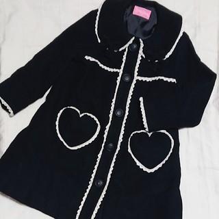 シャーリーテンプル(Shirley Temple)の120 シャーリーテンプル アンゴラ混のブラックコート(コート)