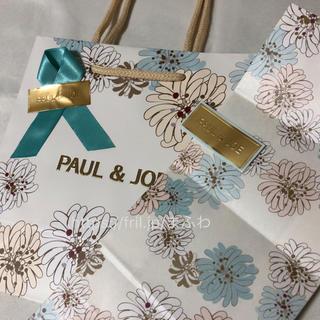 ポールアンドジョー(PAUL & JOE)の新品 ブルー ポール&ジョー ラッピング セット ギフトバッグ ショッパー(ラッピング/包装)