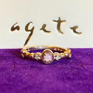 アガット(agete)のagete ♥︎ k10 オパール ダイヤ リング(リング(指輪))