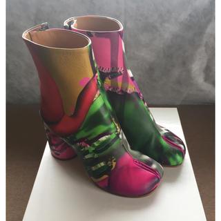 マルタンマルジェラ(Maison Martin Margiela)の19AW新品52%off メゾンマルジェラ プリント 足袋ブーツ tabi タビ(ブーツ)