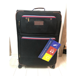 トミーヒルフィガー(TOMMY HILFIGER)の【美品】トミー TOMMY スーツケース キャリー ブラック 大型サイズ(トラベルバッグ/スーツケース)