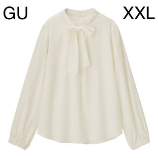 GU - GU 2WAYボウタイブラウス OFF WHITE XXL