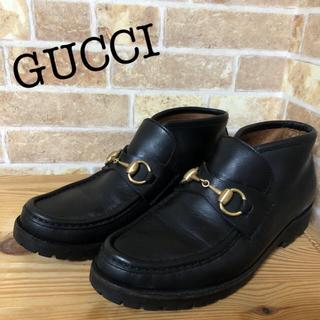 Gucci - 美品⭐️GUCCI グッチ 23 ショートブーツ ビットローファー REGAL