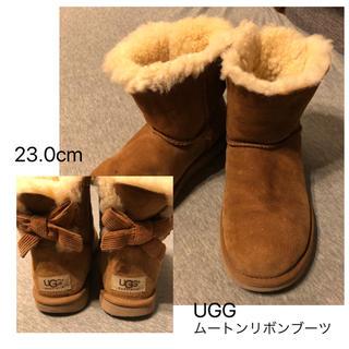 アグ(UGG)のUGGバックリボンムートンブーツUS6 23cm(ブーツ)