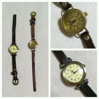 サマンサモスモス(SM2)のレトロ腕時計set*本革(腕時計)