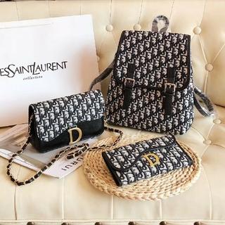 クリスチャンディオール(Christian Dior)のクリスチャンディオール リュック ショルダーバッグ 財布 3点セット(リュック/バックパック)