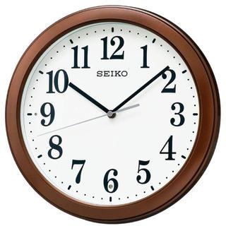 セイコー(SEIKO)の【未使用】セイコー クロック 電波 掛時計 茶 メタリック塗装 (掛時計/柱時計)