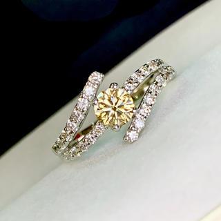 🌹綺麗♡ 美カットブラウンの彩♡ブラウンダイヤ&ダイヤリング(リング(指輪))