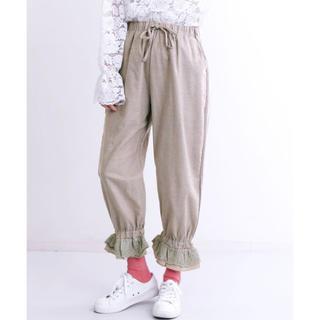 merlot - merlot 裾フリルパンツ