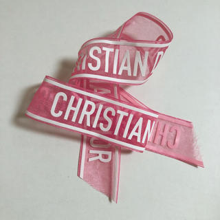 クリスチャンディオール(Christian Dior)のディオール サテンリボン(ヘアゴム/シュシュ)
