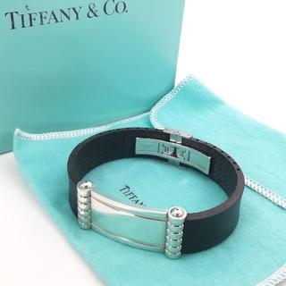 ティファニー(Tiffany & Co.)の極希少 美品 ティファニー プレート ラバー バングル ZZ26(バングル/リストバンド)