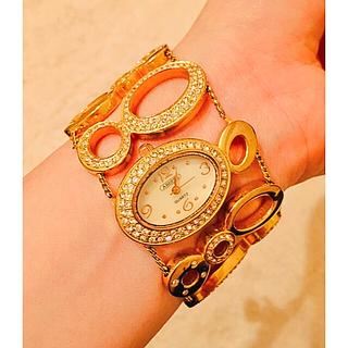 アビステ(ABISTE)のセール 値下げ 【美品】アビステ ABISTE  時計 ゴールド 大人気 豪華(腕時計)