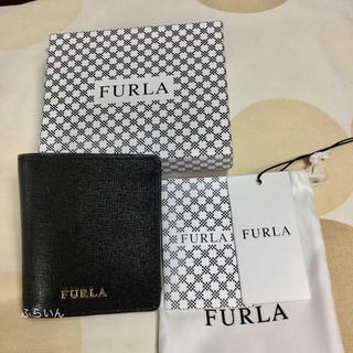 フルラ(Furla)の【新品未使用】FURLA BABYLON S BI-FOLD 折り財布 ブラック(財布)