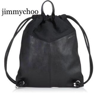 ジミーチュウ(JIMMY CHOO)の未使用★JIMMY CHOO MARLON バック スタースタッズ付 ブラック(バッグパック/リュック)