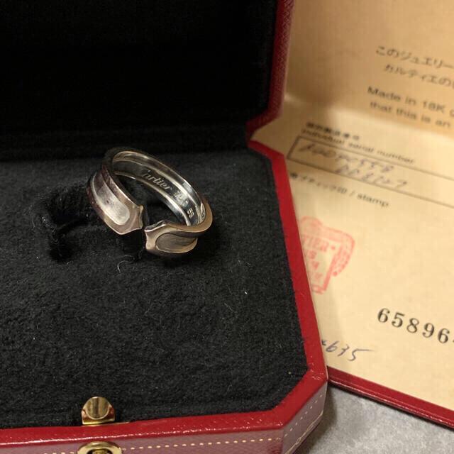Cartier(カルティエ)のカルティエ    C2リング    750WG    58サイズ(やや難あり) メンズのアクセサリー(リング(指輪))の商品写真