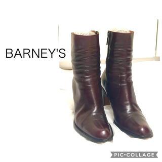 バーニーズニューヨーク(BARNEYS NEW YORK)のBARNEY'S BROWNチャンキーヒールブーツ(ブーツ)