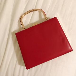 ふりふ - 【美品】ふりふハンドバッグ 赤⦅成人式・卒業式・パーティなどに◎⦆
