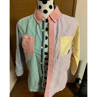 エックスガール(X-girl)の即決★エックスガール★クレイジーパターンのシャツ★サイズ1(シャツ/ブラウス(長袖/七分))