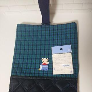 familiar - 【ハンドメイド】ファミリアワッペン付 キルト生地シューズバッグ 入園準備