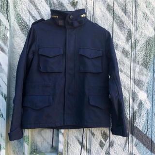 BEAMS BOY - BEAMS BOY ウール M65 ミリタリージャケット 古着 ネイビー