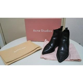 アクネ(ACNE)のAcne Studios Jensen サイドゴアブーツ 36 ブラック(ブーツ)