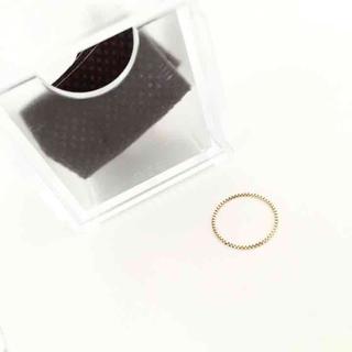 エテ(ete)の美品 ete K10YG チェーンリング(リング(指輪))