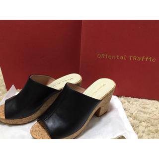 ORiental TRaffic - ORiental TRaffic サンダル ウェッジソール ブラック 黒Lサイズ