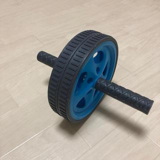 腹筋ローラー ブルー (トレーニング用品)