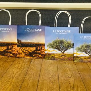 L'OCCITANE - ロクシタン♪ L'OCCITANEショップ袋、ショッパー4枚SET