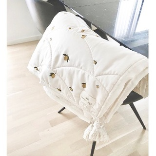 キャラメルベビー&チャイルド(Caramel baby&child )の新品✦Konges Sloejd キルトブランケット マット(レモン柄)(おくるみ/ブランケット)